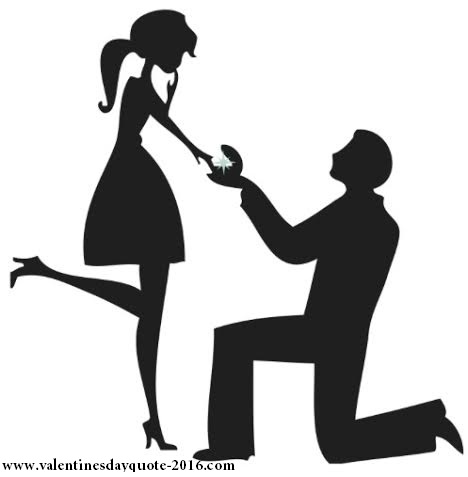 Boy propose to girl black image