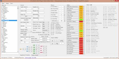 eFootball 2022 Player Data Editor Devil Cold52