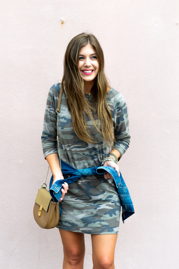 Camouflage Dress For Fall - Chasing Cinderella