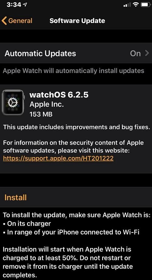 watchOS 6.2.5 Features