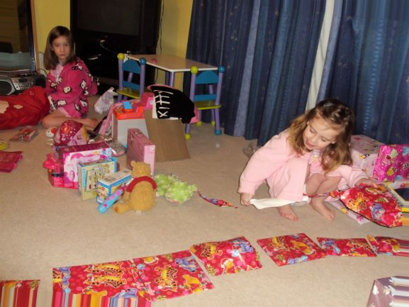 sasha lining up presents