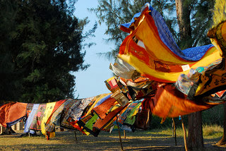 African fabric blowing in the breeze of Mozambique photo by F H Mira