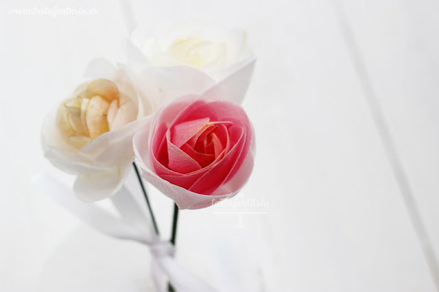 Tutorial rosas de papel de oblea o wafer paper
