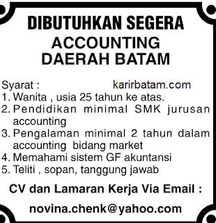 Lowongan Kerja Accounting di batam