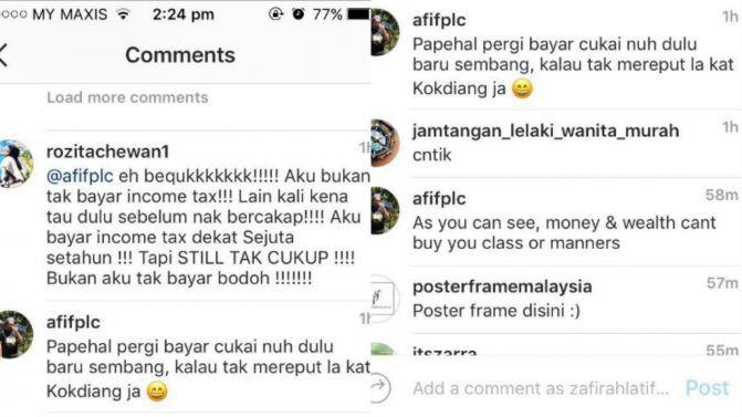 Che Ta Mengamuk Bila Netizen Tuduh Tak Bayar Income Tax