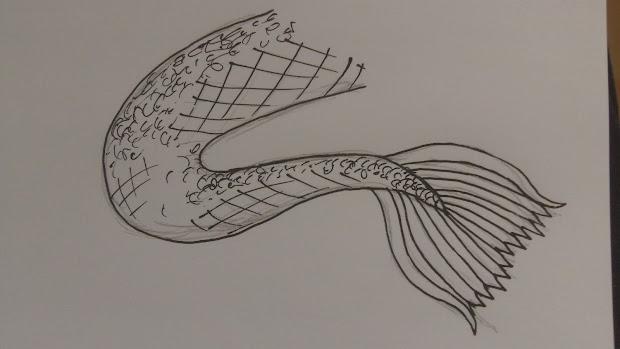 Wayne Tully Fantasy Art Draw Mermaid Tail
