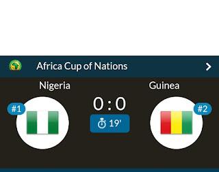 LIVE: Nigeria Vs Guinea