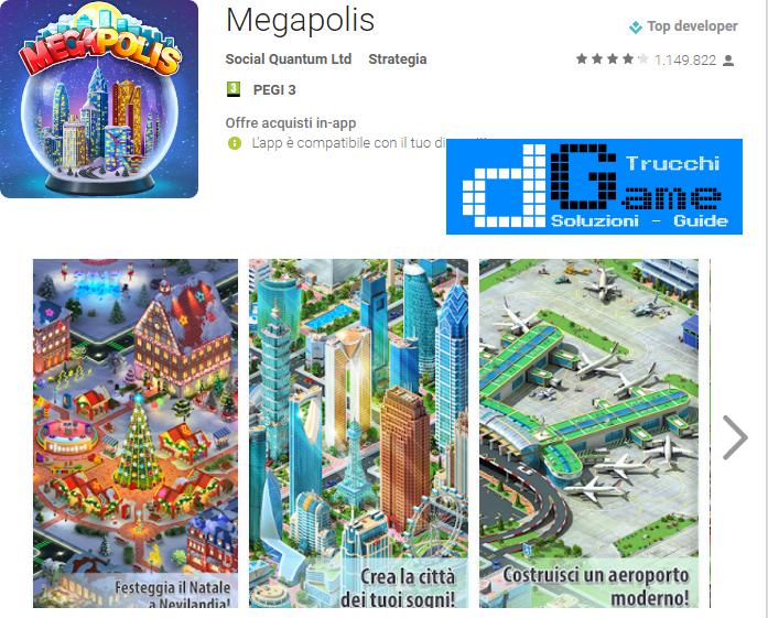 Trucchi  Megapolis Mod Apk Android 3.30