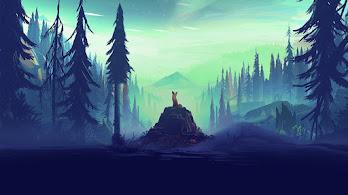 Fox, Forest, Trees, Digital Art, 4K, #16