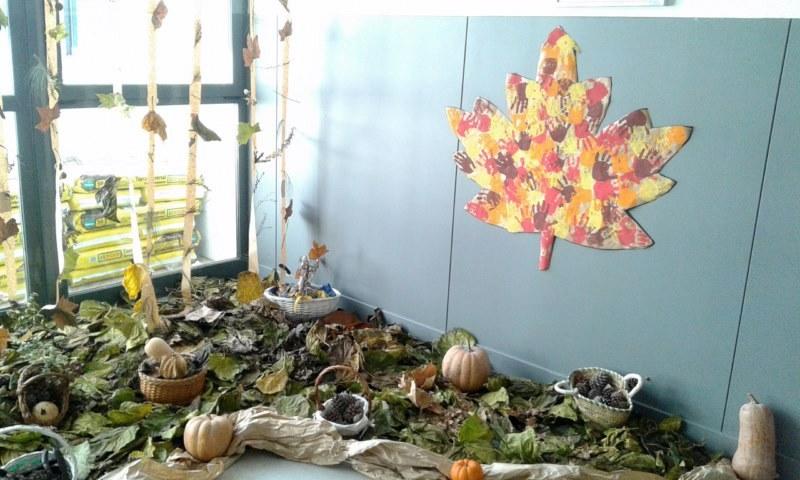 Els nostres moments a laula dinfantil Decoracin otoal con hojas