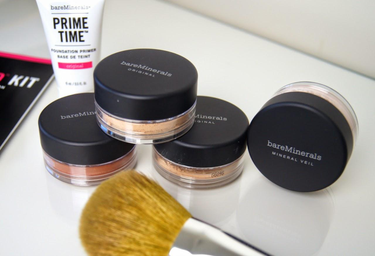 bare minerals get started bundle kit review original spa 15 foundation prime time primer mineral veil warmth powder bronzer brushes