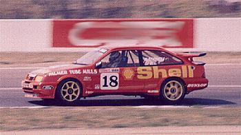 Форд Сиерра трех дверка Cosworth на соревнованиях