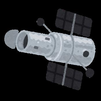 宇宙望遠鏡のイラスト(背景なし)