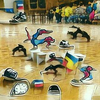 """""""Break-Dance Olympics"""" - AI generated image"""