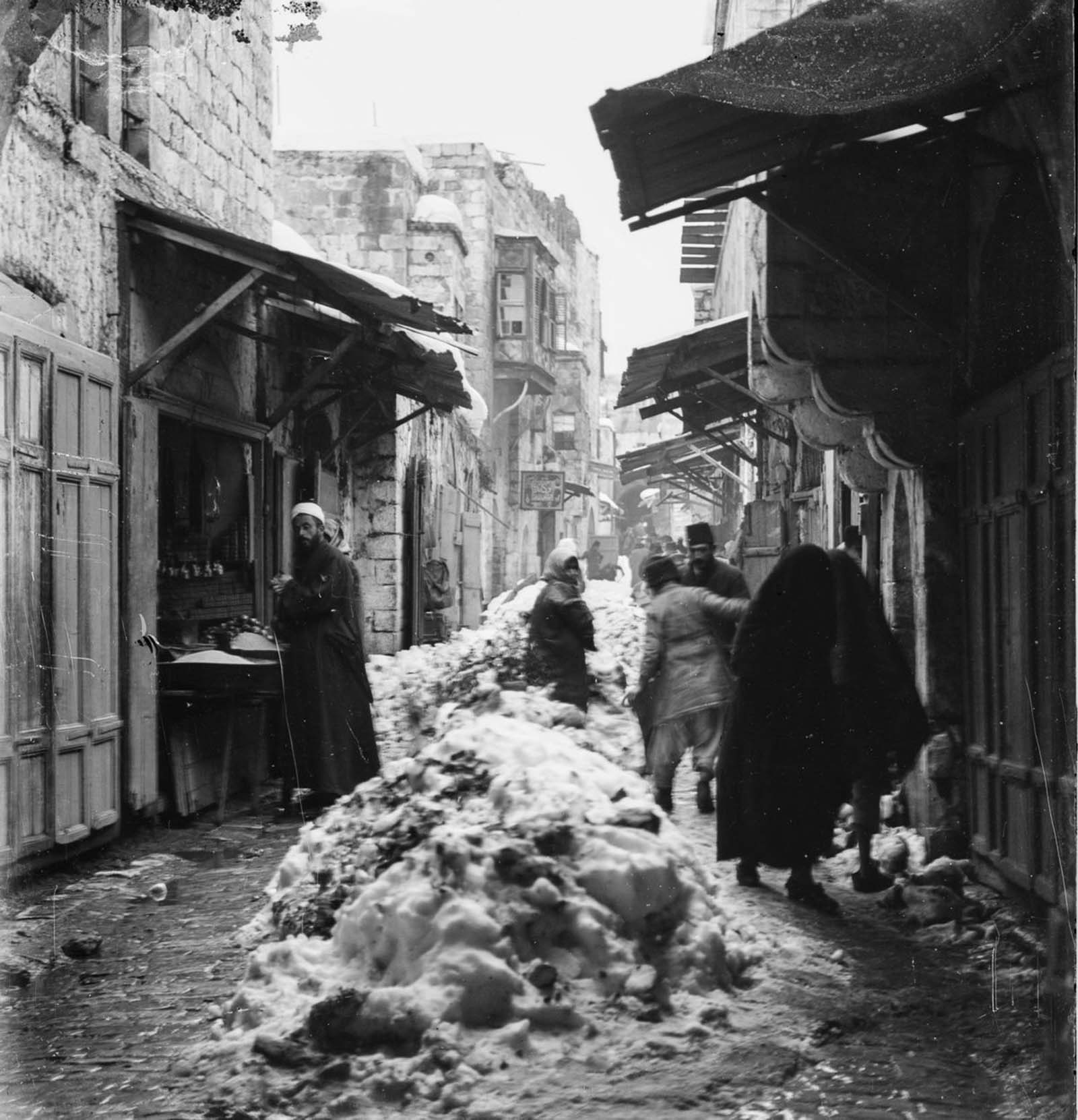 Jerusalem in snow, 1921