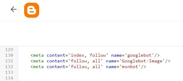 """How to add a """"noindex"""" and/or a """"nofollow"""" meta tag on Blogger Theme?"""