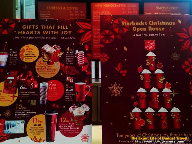 bowdywanders.com Singapore Travel Blog Philippines Photo :: Singapore :: Starbucks Christmas Open House in Singapore