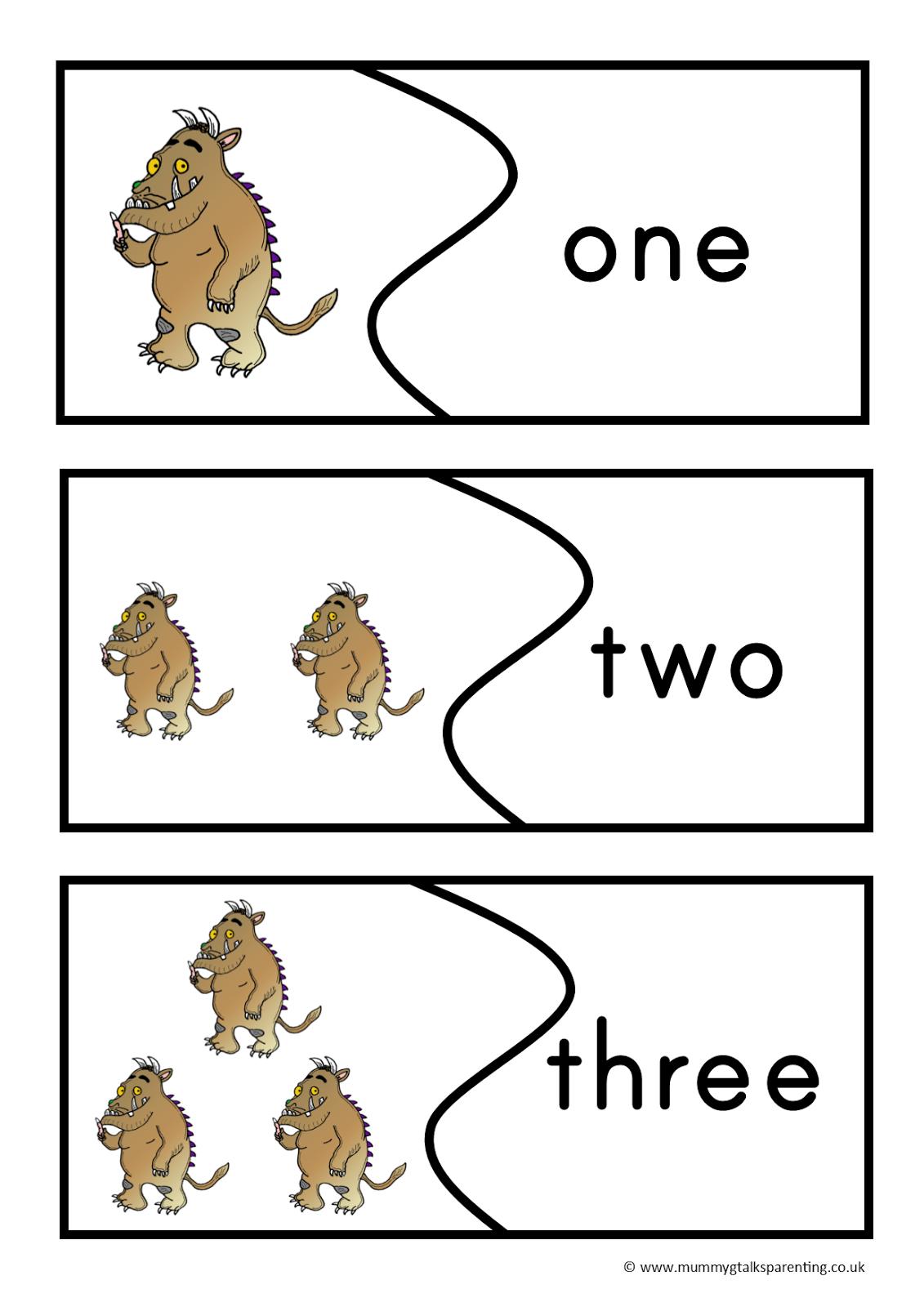 Pin The Gruffalo Preschool Printables Pack