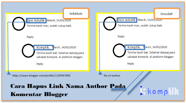 Hapus Link Author Komentar Blogger