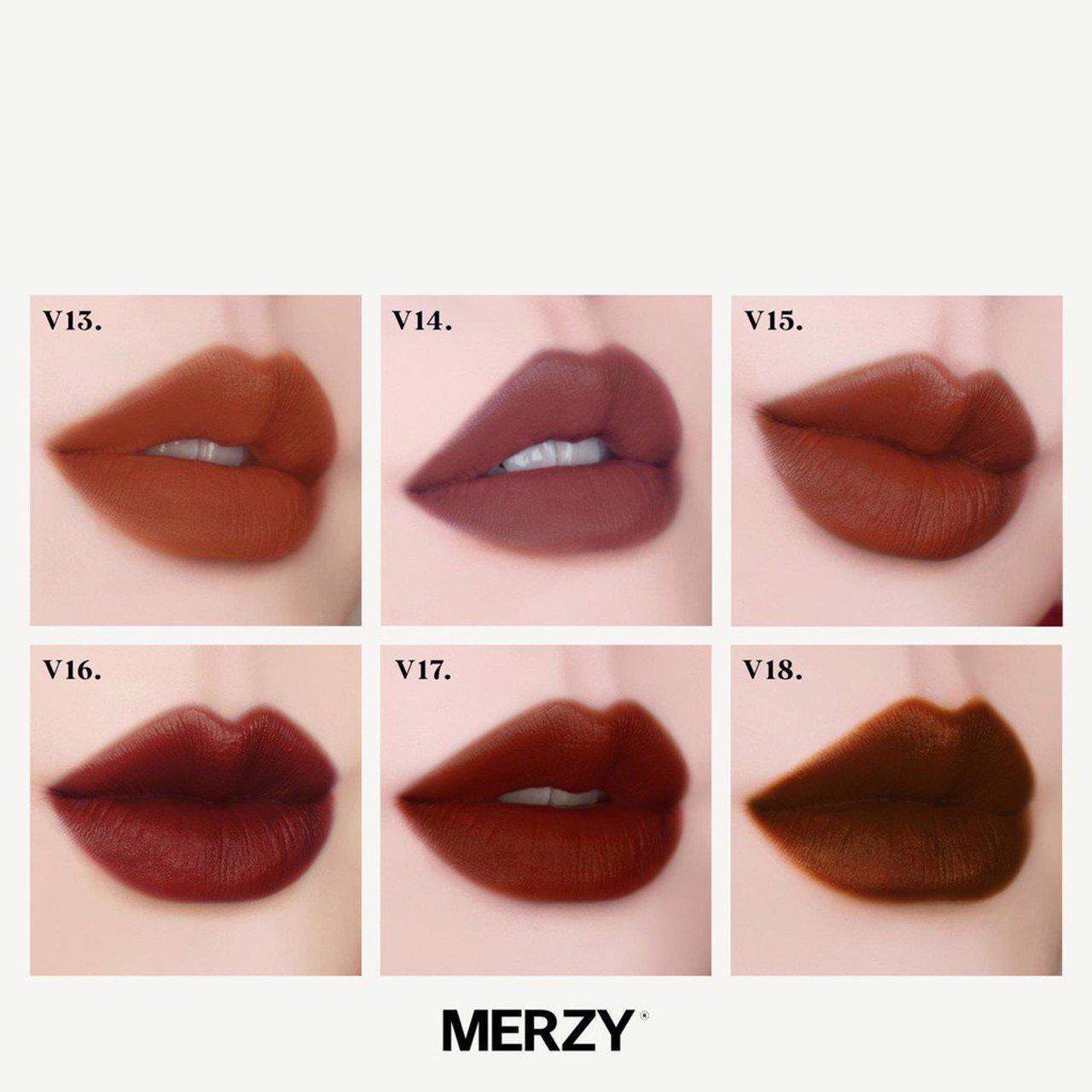 bảng màu son Merzy The First Velvet Lip Tint Season 3