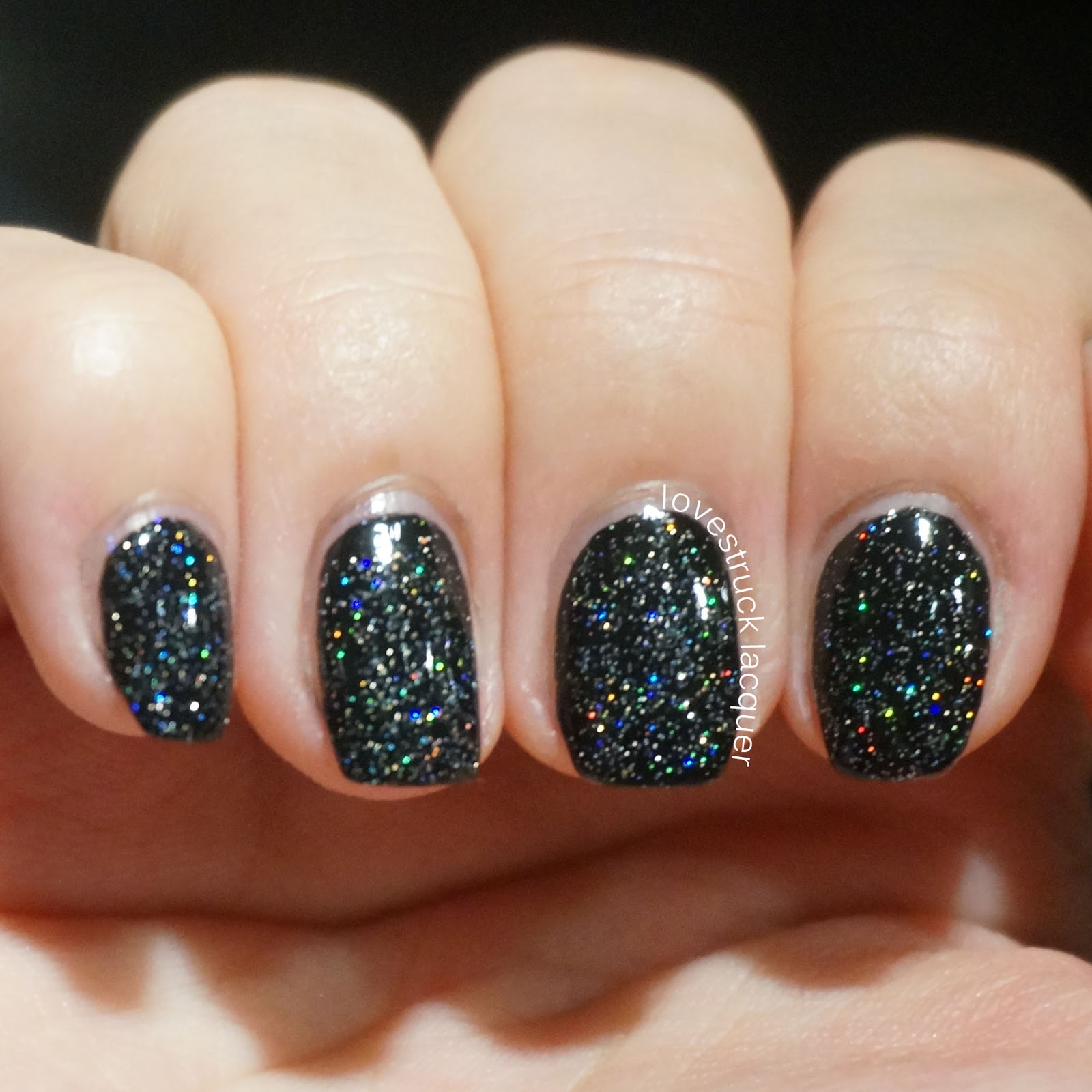Lovestruck Lacquer: China Glaze Fairy Dust over Black