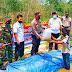 Wujudkan Kampung Tangguh, Desa Suka Maju Dapat Bantuan Bibit Ikan Nila dan Semangka