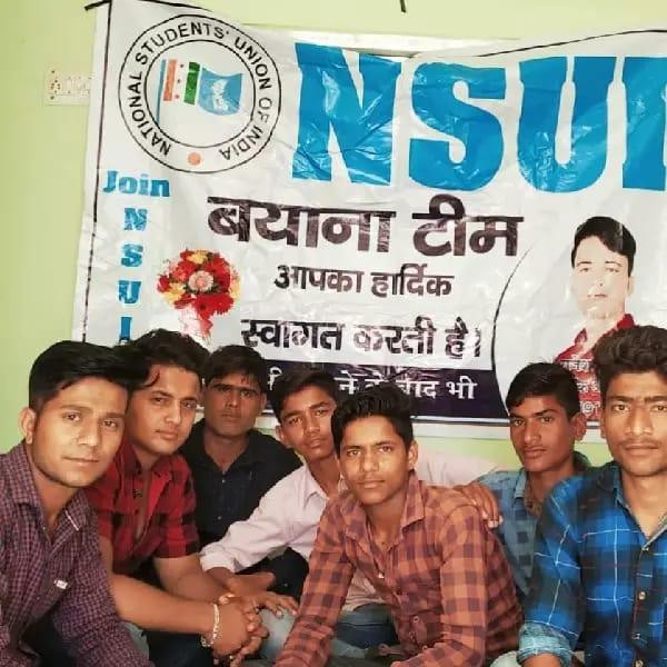 एनएसयूआई कार्यकर्ताओं ने मनाया स्थापना दिवस
