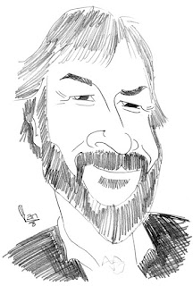 Peter Jackson caricature by Ian Davy Brown