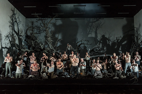 Gerald Finley and ensemble - Act Two, Guillaume Tell - Royal Opera House - photo credit Clive Barda