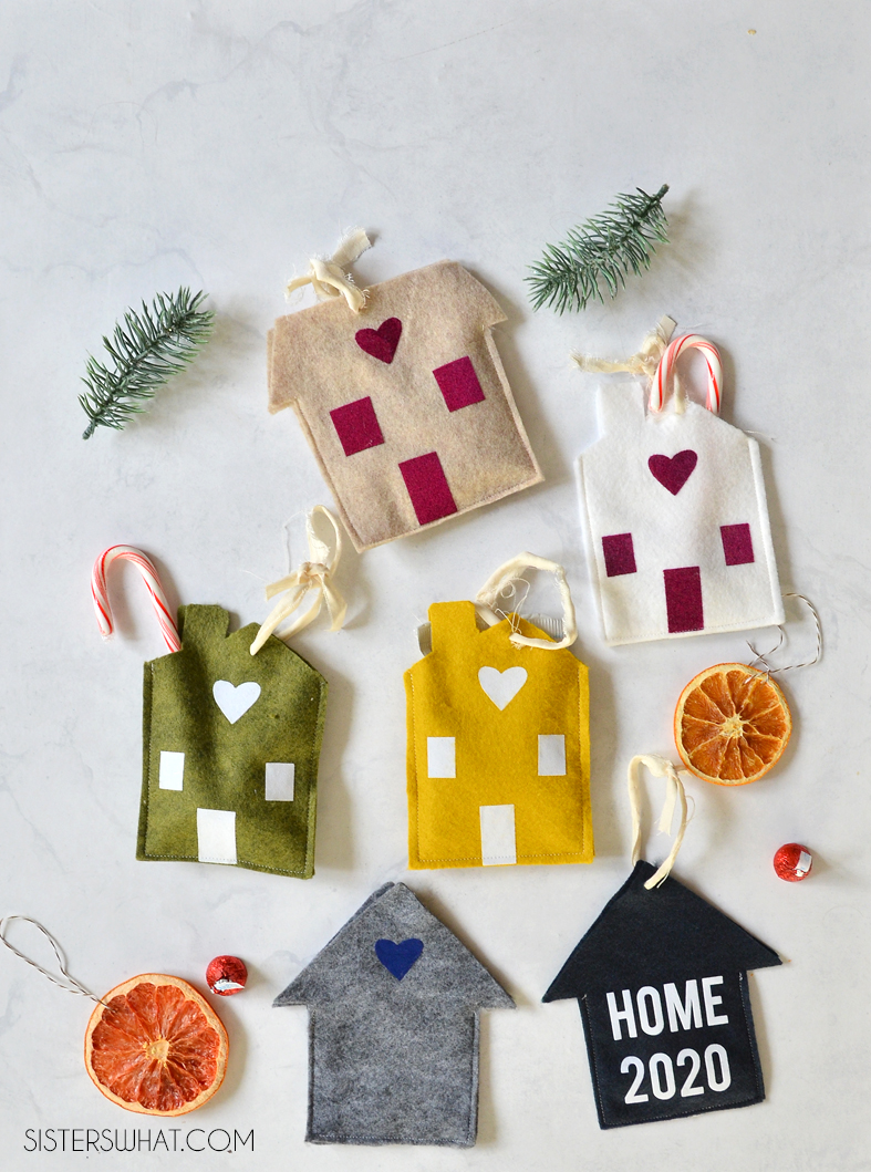 how to sew felt houses free pattern