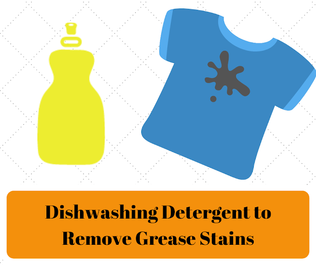 How to get grease stains out of clothes - Dishwashing Detergent