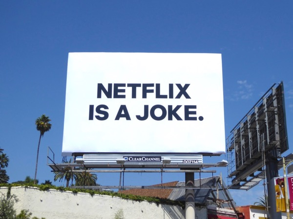 Netflix is a joke billboard