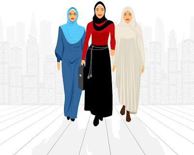 Pic challenges expectations showing 3 business women in hijabs