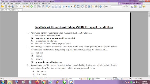 Download Contoh soal tes P3K/PPPK guru pedagogik dan kunci jawaban