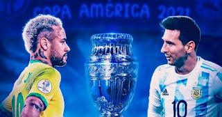 موعد مباراة البرازيل والارجنتين في نهائي كوبا أمريكا 2021.