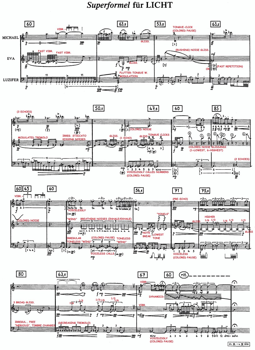 Stockhausen: Sounds in Space: The LICHT Super-Formula
