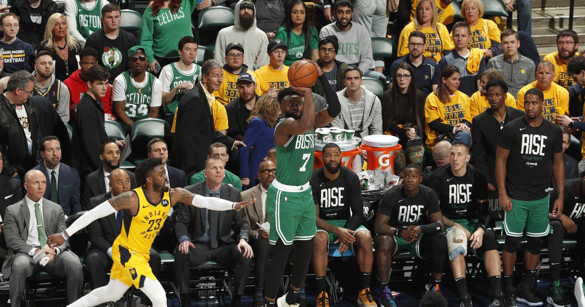 With Pacers defensive attention on Kyrie Irving, Jaylen Brown excels