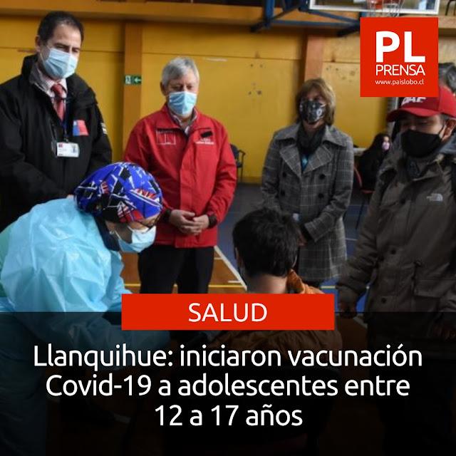Llanquihue: iniciaron vacunación Covid-19 a adolescentes entre 12 a 17 años