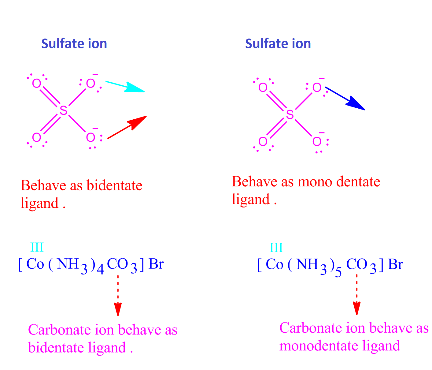 Chemsolve Net Ligands Definition Examples Types In Co Ordination Chemistry