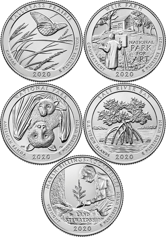 USA 2020 - America the Beautiful Quarters