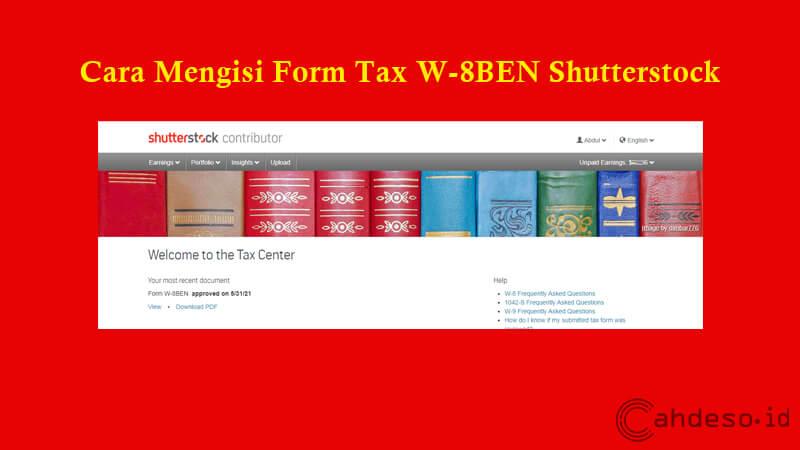 Cara Mengisi Form Tax W-8BEN Shutterstock