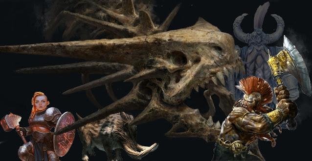 Icehammer Dwarves battle the terror of the Dragon Barrow