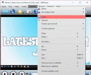 SMPlayer Load Subtitle 2