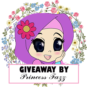 GIVEAWAY BY PRINCESS FAZZ, Blogger Giveaway, Hadiah, Peserta, Pemenang, Random,
