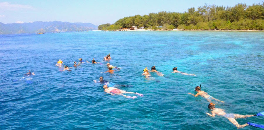 After trekking Mount Rinjani Snorkeling to Gili Trawangan