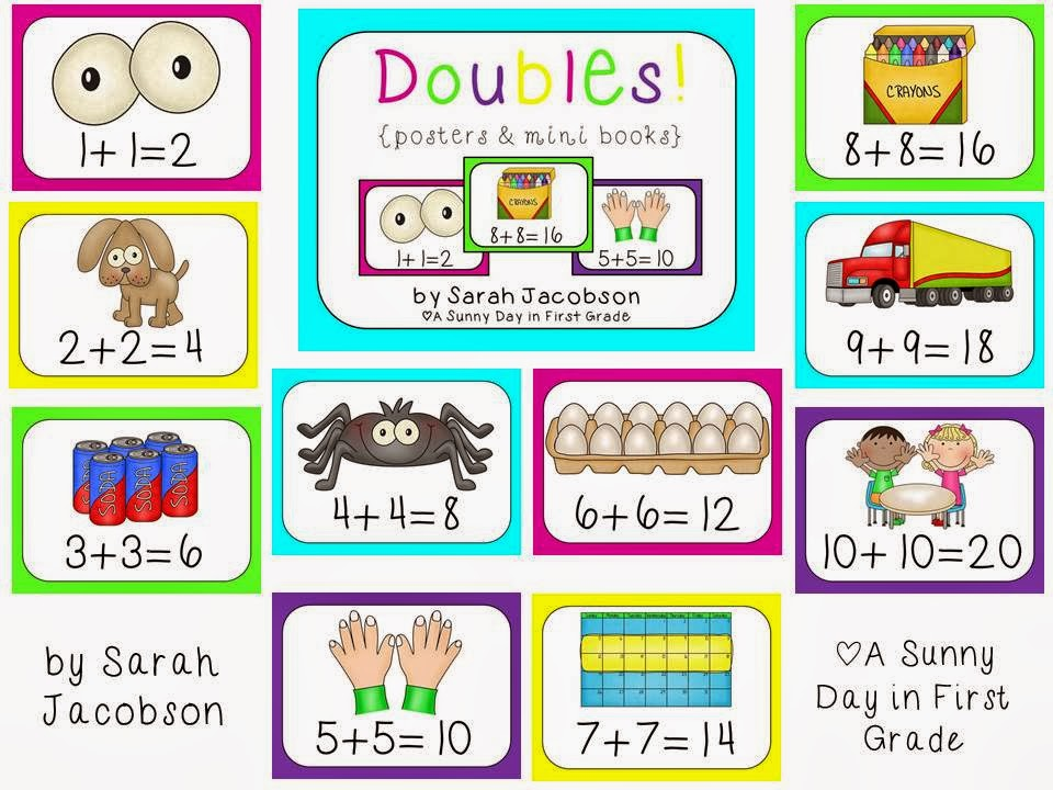 A Sunny Day In First Grade Math Monday Doubles