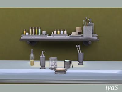 Belle Cosmetics Set Косметический набор Belle для The Sims 4 Простые и элегантные предметы первой необходимости для ванной. Набор содержит 6 отдельных предметов и 3 комбинации декоративных предметов. Автор: soloriya