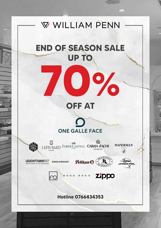 Enjoy up to 70% OFF on all premium brands at William Penn