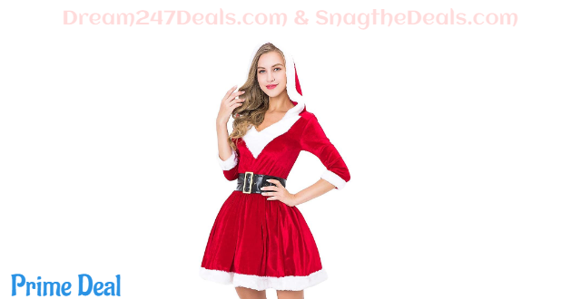Women Santa Dress Costume 65%OFF