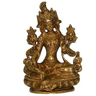 DronaCraft Blessing Tara Buddha Handmade Brass Statue